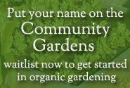 community gardens wait list