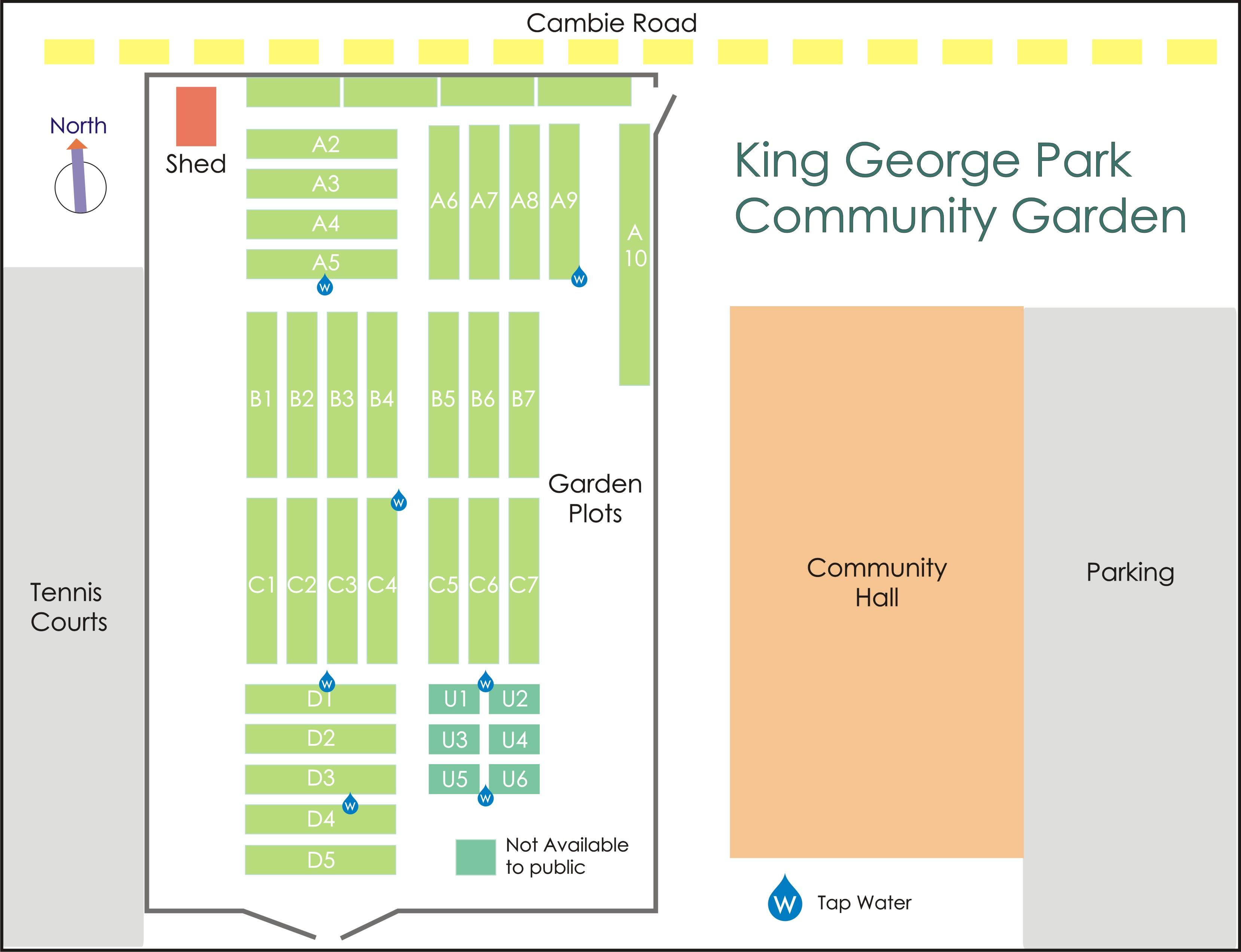 King George Park Gardens Diagram