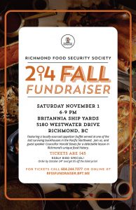RFSS Fall Fundraiser @ Britannia Heritage Shipyard - Chinese Bunkhouse (at the foot of Railway Ave.)   Richmond   British Columbia   Canada