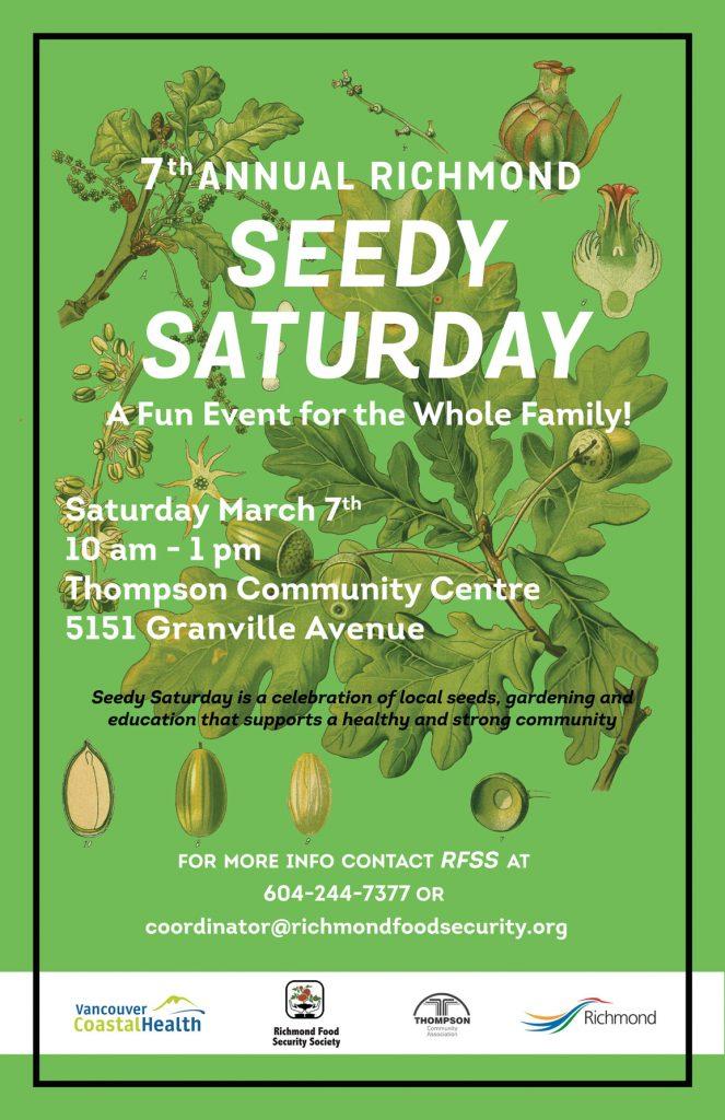 7th Annual Seedy Saturday @ Thompson Community Centre | Richmond | British Columbia | Canada